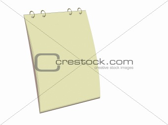 Blank yellow notes block