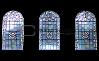 Three church windows