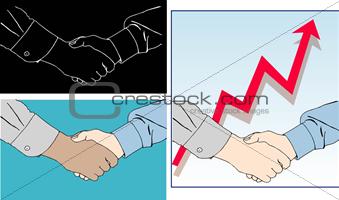 Business handshakes