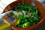 Garden salad and olive oil