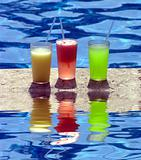 Refreshing Drinks At Poolside