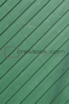 Green wooden panel