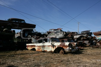Salvage Yard in Latta, South Carolina.