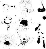 Ink splats