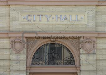City Hall Nameplate