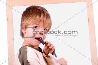Boy with board