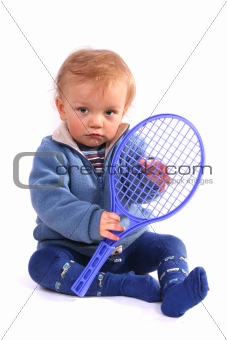 First lesson of tennis