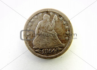 1854 Quarter dollar; Front