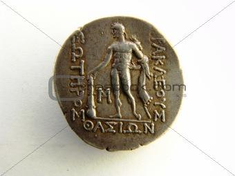 A Tetradrachm, featuring Dionysos
