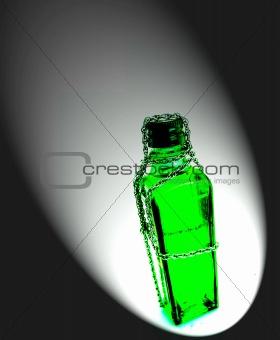 Forbidden- green square bottle