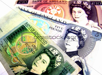Old British Banknotes- Front