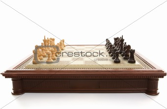 Chess Board and playing pieces