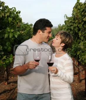Couple at vineyard