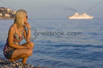 Cruise Ship On The Horizon