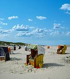 beach chairs juist (germany)