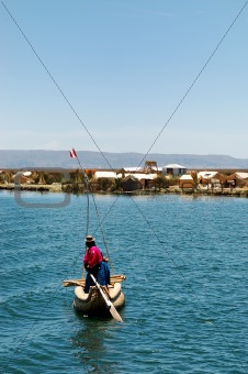 A local on Lake Titicaca