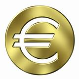3D Golden Euro Currency