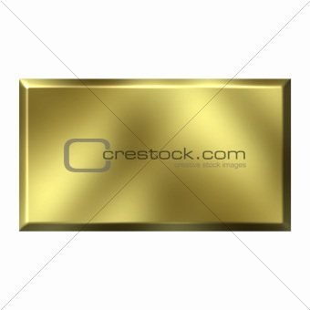 3D Golden Square Button