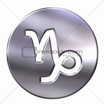 3D Silver Capricorn