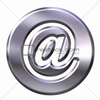 3D Silver Framed Email Symbol