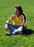 Man on grass
