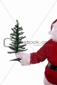 Santa Claus with tree