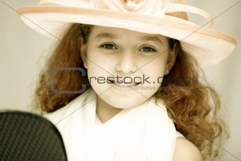 Girl in fancy hat