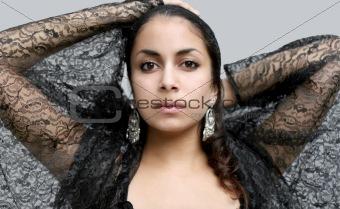 Black lace butterfly