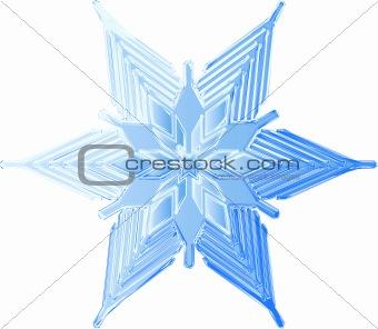 Sketched Icy Snowflake