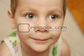 Close up smiling child