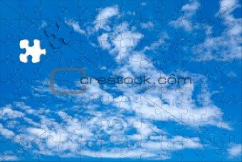Sky background puzzle