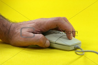 clicking the mouse