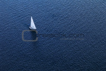 Lonely yacht