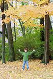 Boy in the Fall Trees