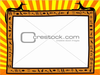 Frame in the Egyptian style