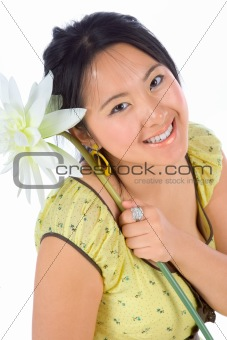 Chinese girl with flower