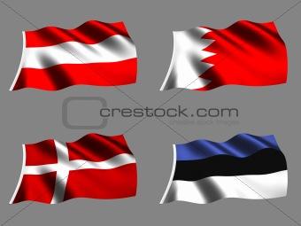 Flag Denmark Austria Bahrain Estonia