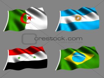 Flag Brazil Argentina Algeria Syria