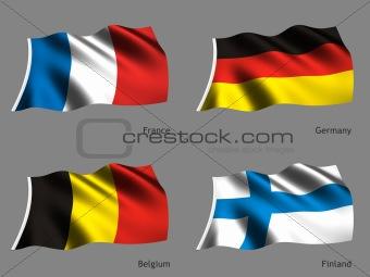 Flag Germany Belgium France Finland
