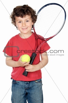 Boy with racket
