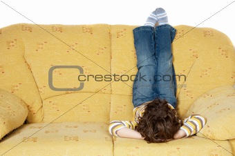 Boy in a couch