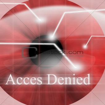 Access denied after eye scan