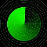 Empty radar screen