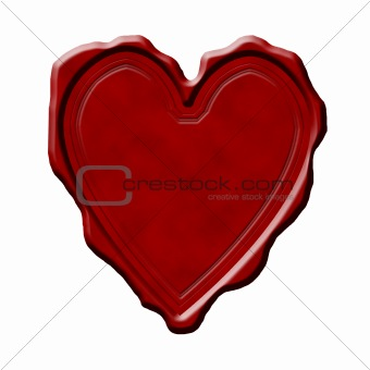 Blank heart shaped wax seal