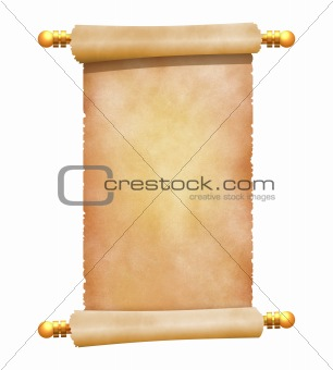 blank old parchment scroll illustration