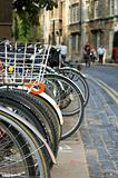 Bikes Parked in the Street (Oxford)
