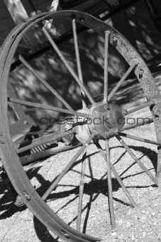 old vintage classic horse carriage wheel