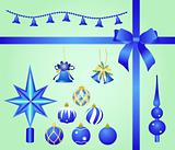 Christmas set blue