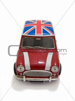 Red uk toy car