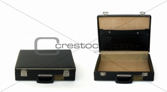 briefcase closed and opened